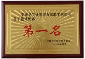 宁南县卫计系统首届职工运动会男子篮球比赛第一名