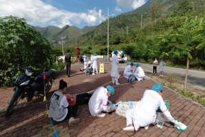 寧南縣人民醫院機動護士庫舉行 《大型車禍傷救援應急演練》