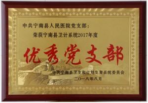 宁南县卫生系统2017年度优秀党支部